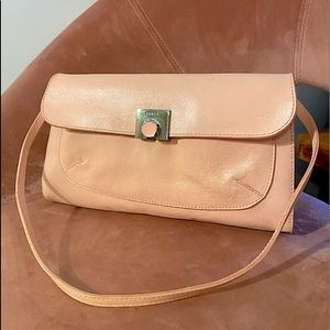 Furla Pale Pink leather convertible bag